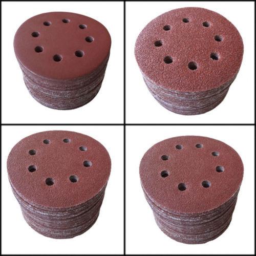 50pcs 7 8 Hole  180# Sanding Disc Random Orbit Loop Velcro<br><br>Aliexpress