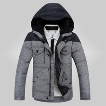Free shipping 2015 winter mens Coat high quality down jacket,Men's Thickening 90% White Duck Down Parka 2 colors Size M-XXL 135j