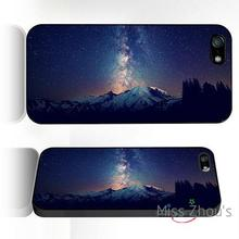 For iphone 4/4s 5/5s 5c SE 6/6s plus ipod touch 4/5/6 back skins mobile cellphone cases cover space milkyway mountain
