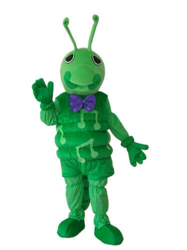 Hot selling!New funny green music ant Cartoon Fancy Dress Suit Outfit Animal Mascot Costume - Sam's World store
