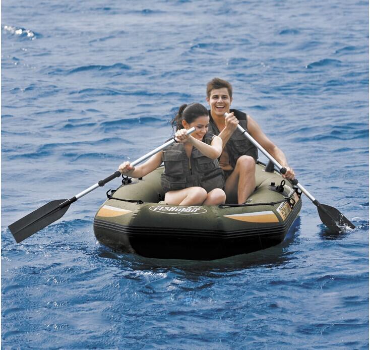 JILONG Fishman 400 set ,4 Person fishing boats 295*128*43cm inflatable outdoor boat 1pair Aluminum oar 1pump with repair patch(China (Mainland))