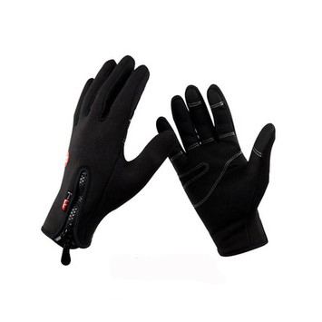 Black Ski gloves warm skiing and riding gloves Motorcycle gloves outdoor Wind and Waterproof cotton gloves(China (Mainland))