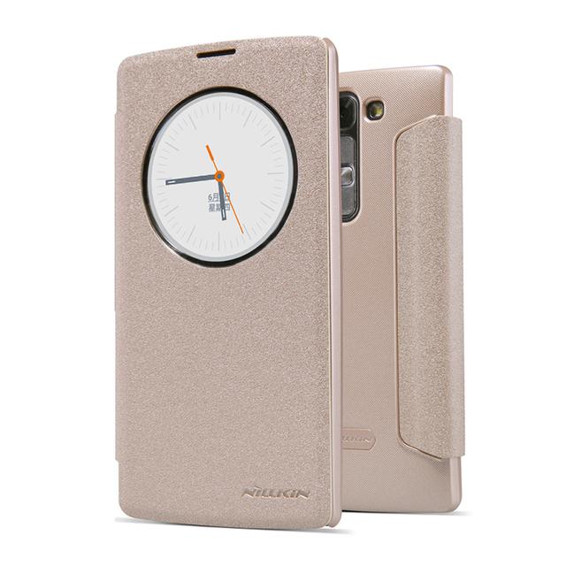 Для LG Magna H502F H500F 5.0 дюймов кожаный чехол NILLKIN ультра-тонких высокое качество трудно PC задняя крышка флип смарт-чехол функция сна чехол