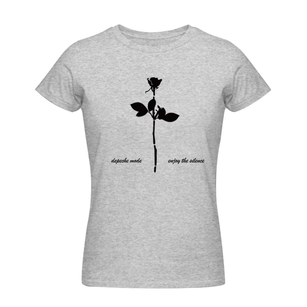 Cheap fashion women t shirt depeche mode top tees cotton for Best inexpensive t shirts