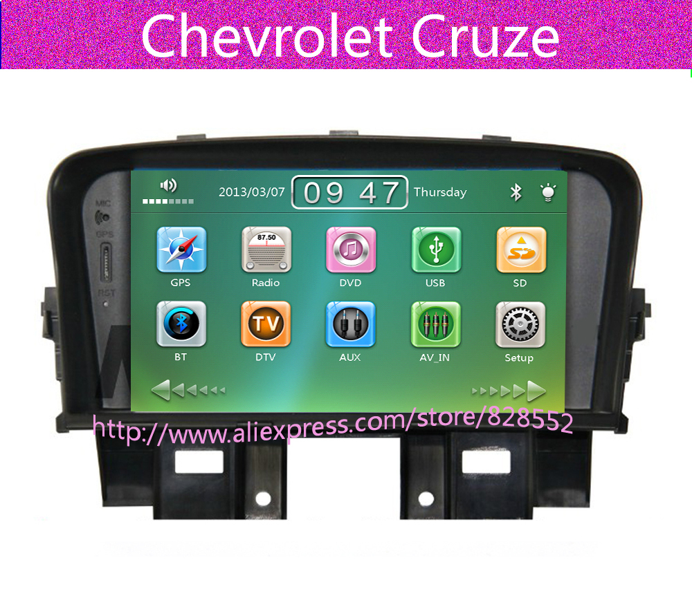 Free Shipping 7'' Car Dvd Player For Chevrolet Cruze Gps Radio With Canbus Audio Ipod Mp3 Gift Map Usb Am/Fm(China (Mainland))
