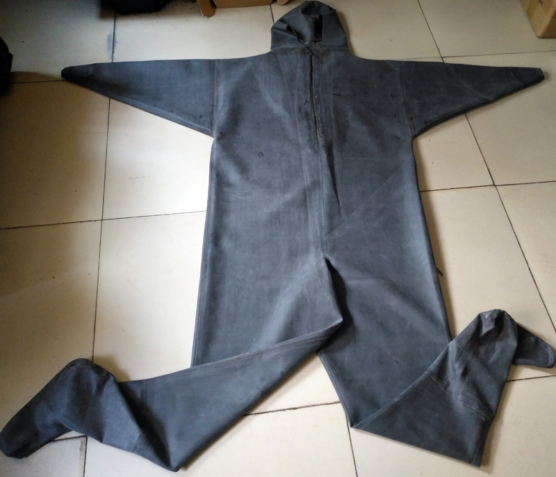 Pure Rubber Zip Waders with Rubber Socks 13