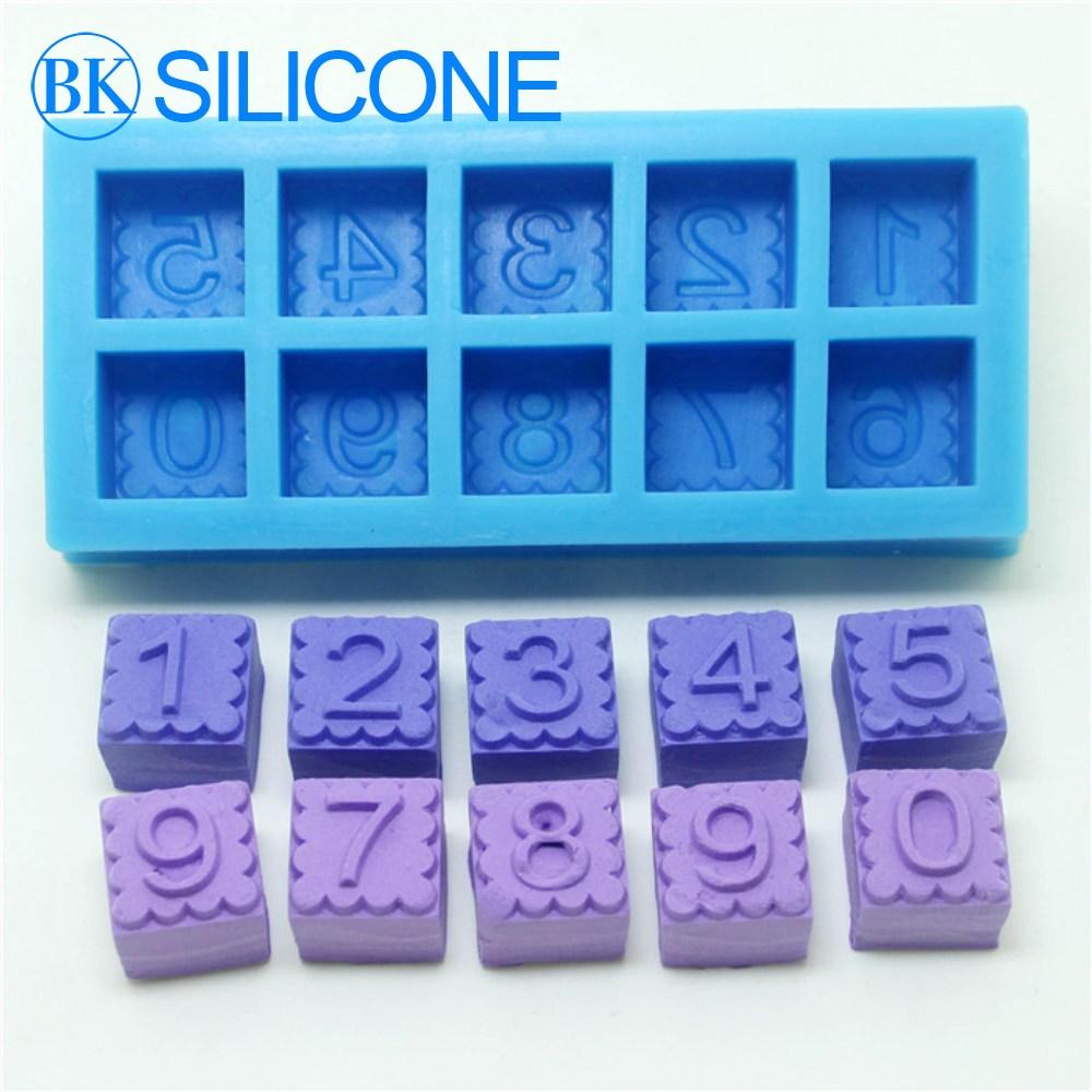 acheter vente chaude 0 9 chiffres silicone moule glac e au chocolat bricolage. Black Bedroom Furniture Sets. Home Design Ideas