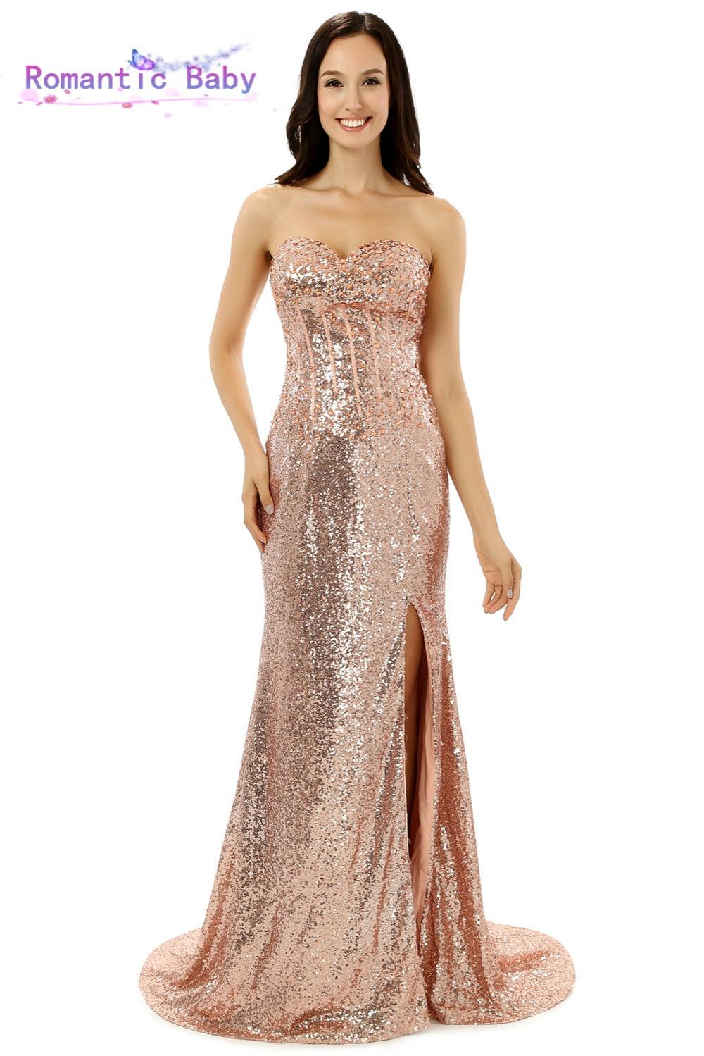 Gold Sequin Prom Dresses Cheap - Boutique Prom Dresses