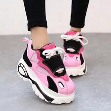 2015 Brand Spring Autumn Classic Platform High Top Sneakers Casual Flats Height Increasing Shoes Free Shipping