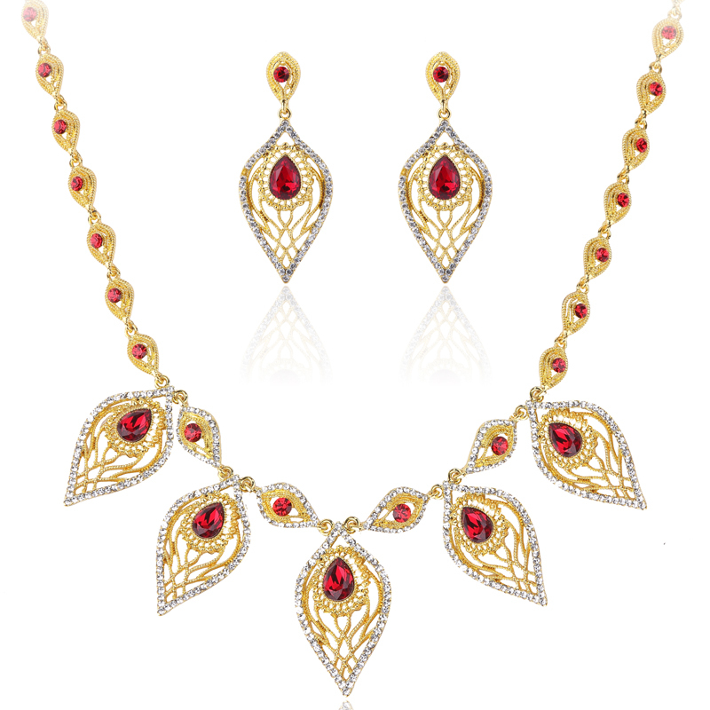Jewellery India Online Shop Indian Gold Plated Necklace Sets: Aliexpress.com : Buy Fashion Jewelry Sets Leaf Necklace