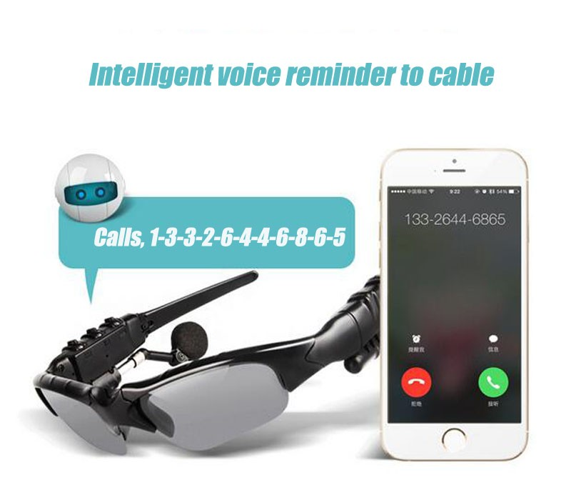 image for Fashion Bluetooth 4.1 Smart Bluetooth Glasses Stereo Music Calls Hands