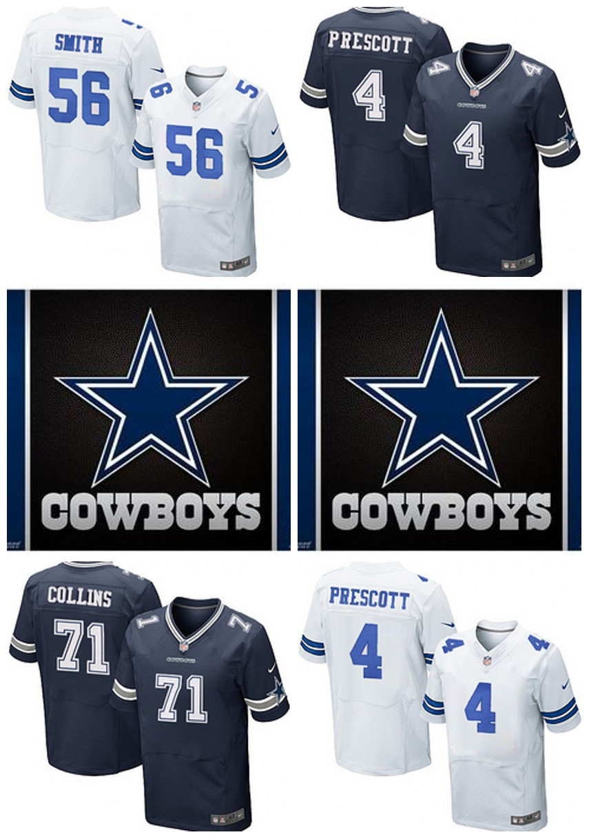 Dallas Cowboys Drift Fashion II Elite TAPPER SMITH PRESCOTT MORRIS COLLINS(China (Mainland))