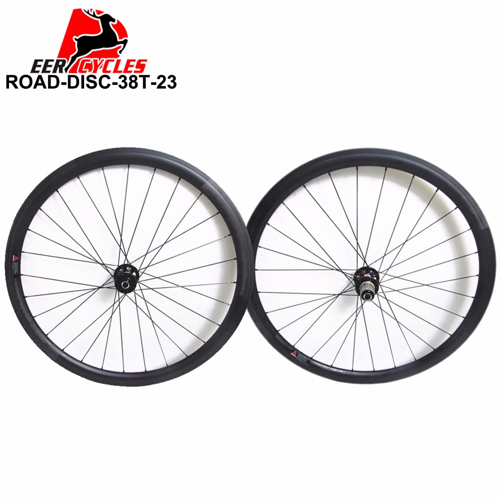 1143g Deercycles Lightest 700C 38mm Carbon Tubular Road Disc Cyclocross Bicycle Wheels, CX Bike Wheel set, Novatec Disc Brake(China (Mainland))