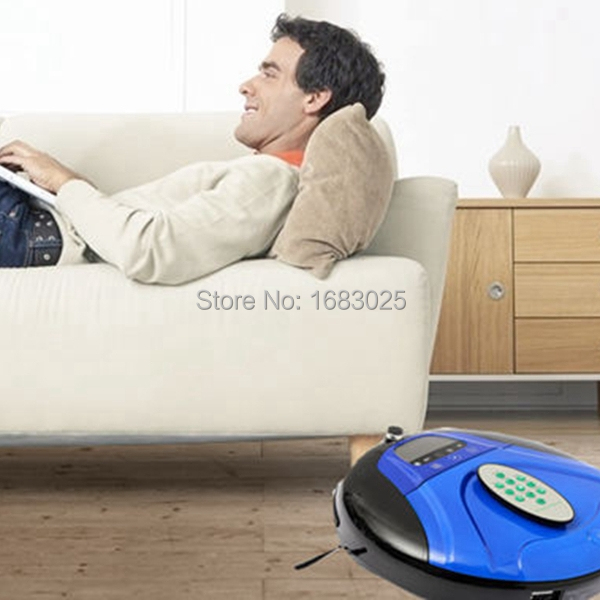 Brand New Blue Auto Intelligent Floor Vacuum Cleaner Robot Machine Smart Robotic Fully-automatic Dust (EMS DHL Free shipping)(China (Mainland))