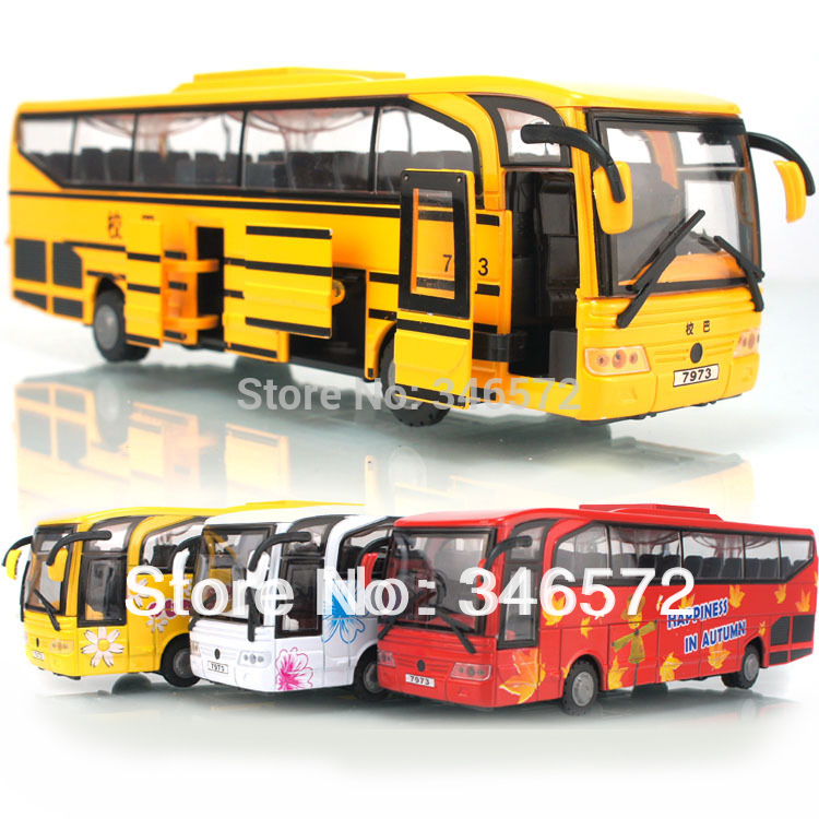 Free shipping Large travel bus alloy car bus model toy for kids(China (Mainland))