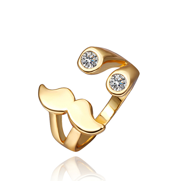 Hotting sell 18K GP gold plated jewelry beard rings send for friend birthday gift pretty nice beautiful Sales promotion(China (Mainland))