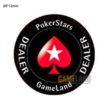 Crystal Poker Chips Dealer Button - Cards Press Button Zhuang Code - Pokerstars Cards Dealer(China (Mainland))