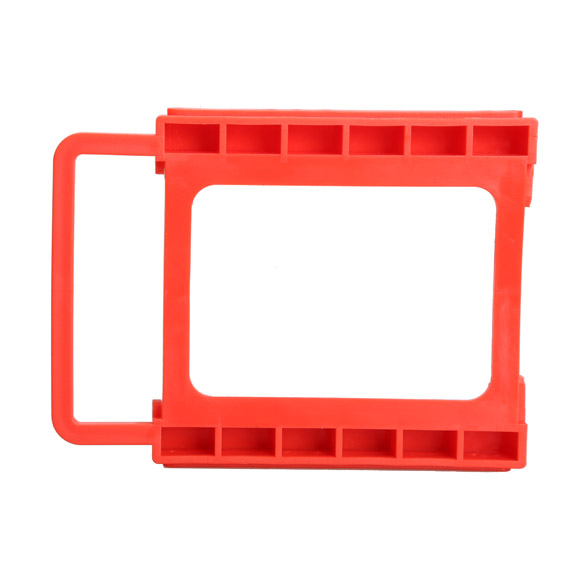 2.5 to 3.5 Inch SSD Notebook HDD Hard Disk Mounting Adapter Dock Holder Red ES88(China (Mainland))