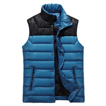 5 Colors Duck Down Vest Couple Lovers Vest Cotton Sleeveless Waistcoat Tide Down Thick Down Waistcoat Winter XXXL(China (Mainland))