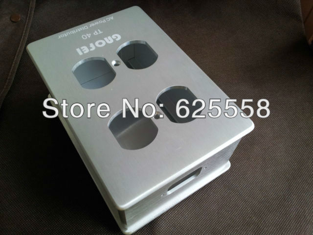 Power Distributor Aluminum shell 4 outlet box(China (Mainland))