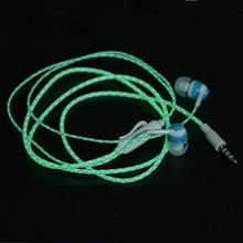 Hot Glow In The Dark Earbus Cool Led Earphone Luminous Neon Headset With Microphone Night Lighting For iPhone Samsung Xiaomi(China (Mainland))