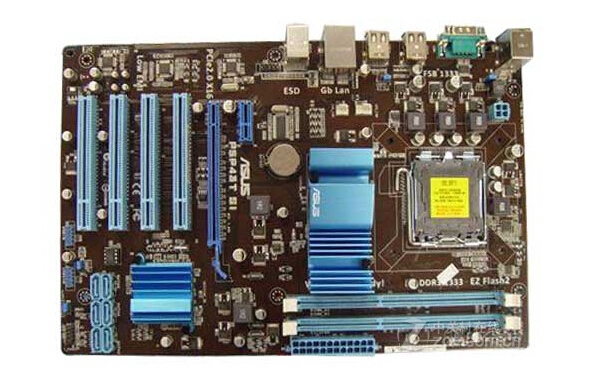 free shipping original motherboard for ASUS P5P43T SI LGA 775 DDR3 16GB P43 Mainboard All solid desktop motherboard(China (Mainland))