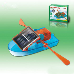 Puzzle DIY Creative Solar Powered Boat Rowing Assembling Toys for Children Educational Toys(China (Mainland))