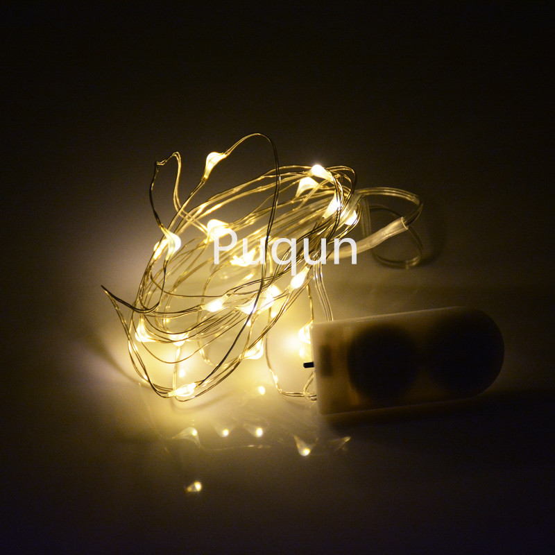 1PC 7FT CR2032 Button Cell Battery Operated 2m 20 LED String Light Waterproof Led Fairy Light For DIY Party Wedding Performance(China (Mainland))