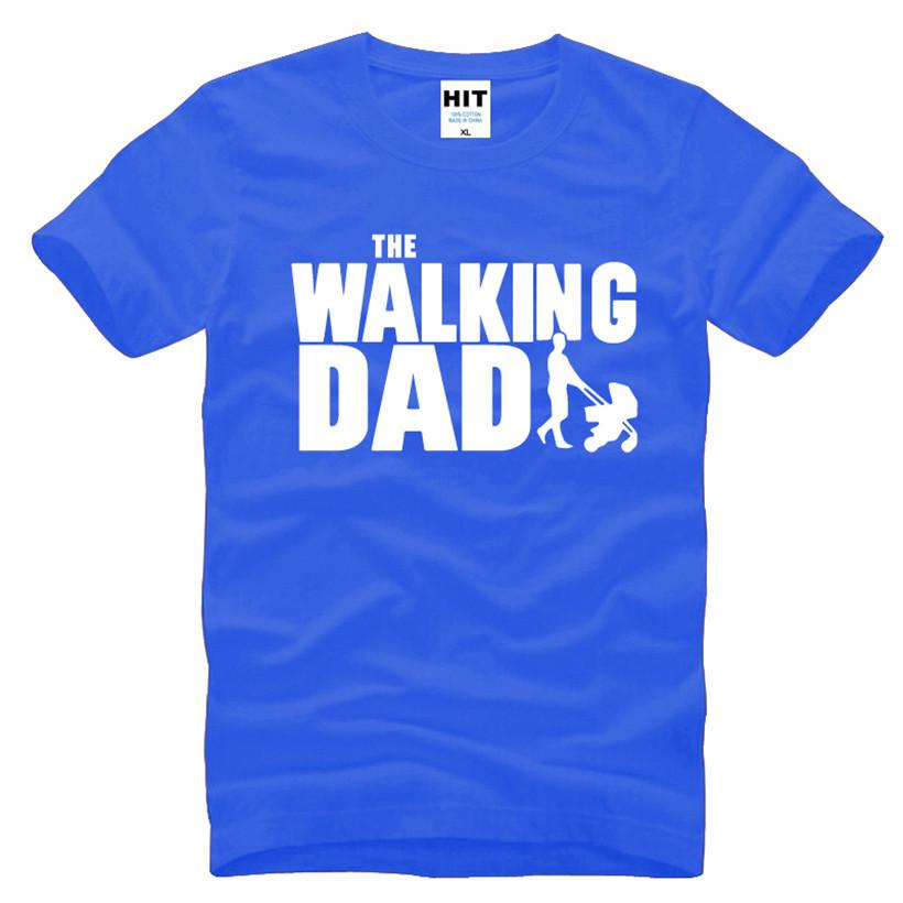 HTB1fOmVKFXXXXc0XpXXq6xXFXXXh - The Walking Dad Fathers Day Gift Men's Funny T-Shirt T Shirt Men 2016 New Short Sleeve Cotton Novelty Top Tee Camisetas Hombre