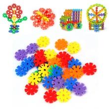 100/150Pcs Colorful Plastic Snowflake Building Blocks Educational Toy Hot Selling(China (Mainland))