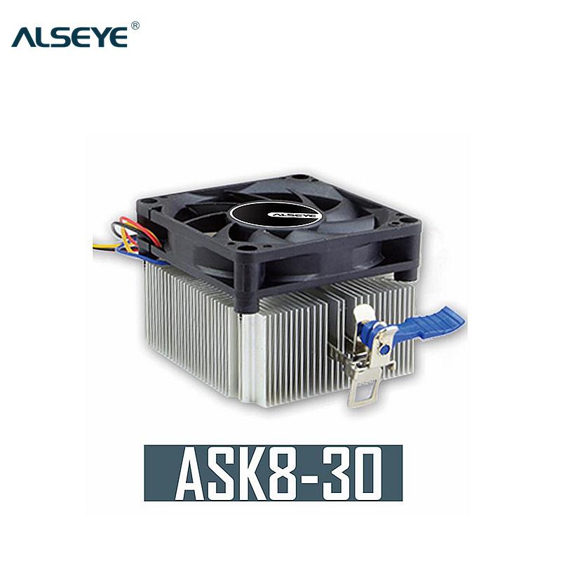ALSEYE GHK-30 70x70x15mm Fan and Aluminum Heat sink CPU Cooler 90w 3300 RPM K8/AM2/AM3 Radiator for Computer Processor cooler(China (Mainland))