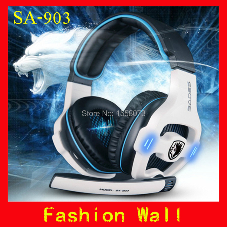 Brand SADES SA903 Professional Gaming Headset 7.1 surround USB earphone stereo Headphones microphone PC gamer headphone