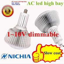 DHL free shipping  2PCS/lot 1 ~ 10V dimmable 80W led high bay light with Nichia SMD3030A 5-year warranty AC200-265V(China (Mainland))
