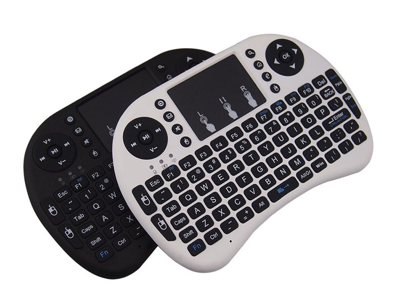 Black Mini Rii i8 keyboard wireless 2.4Ghz Game Fly Air Mouse Remote For xBox Smart Tv Laptop Tablet PC iPad touchpad keyboard
