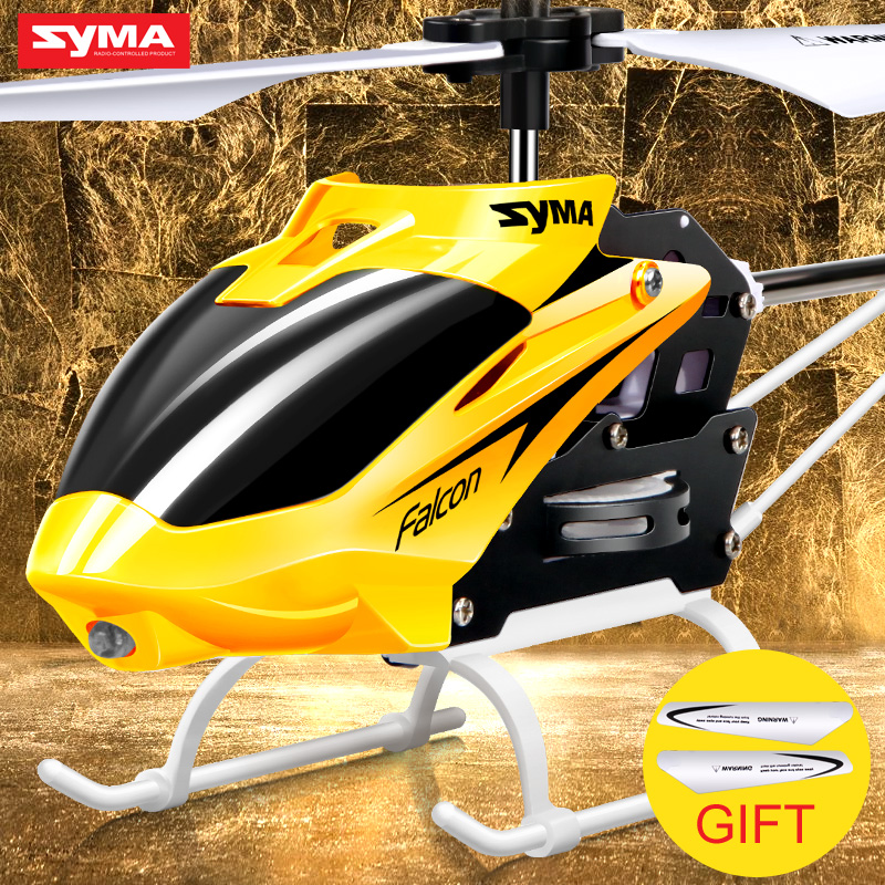 Original Syma W25 2 CH 2 Channel Indoor Mini RC Helicopter with Gyro Crash Resistant Baby toys, Yellow Free Shipping(China (Mainland))