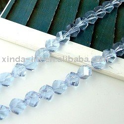 Crystal Gemstone Loose Twist Beads 10MM