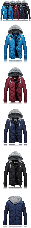 2016 Yeni Kış Pamuk dolgulu Giysiler erkek Kore Tarzı Kalınlaşma Ceket Erkek Kapüşonlu Ceket