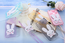 3D Rabbit Ear Glitter Stand PC Cover Phone Cases samsung A3 A5 A7 J1 J5 J7 S6 S7 Edge G530 I9082 G360 Fundas - Shenzhen Ali-Family Trading Co.,Ltd store
