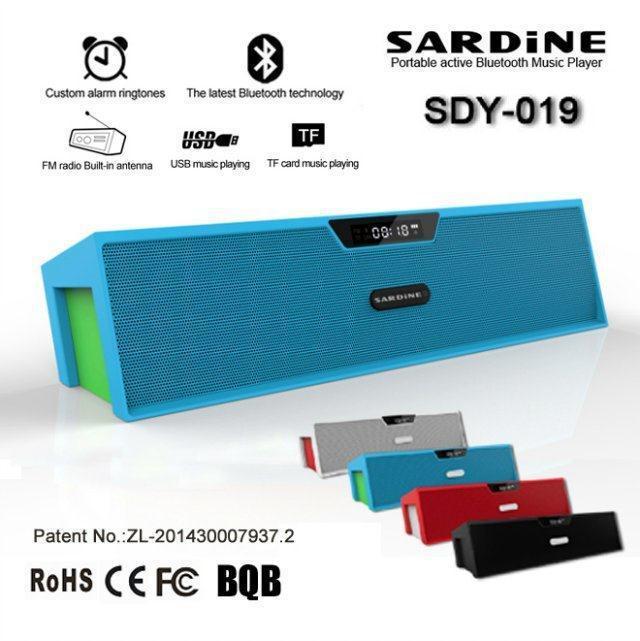 SDY019 LCD Alarm Clock Portable Smart Hands free TF card Play FM Radio Aux Wireless Stereo Bluetooth 2*3w Speaker w/ retail box(China (Mainland))