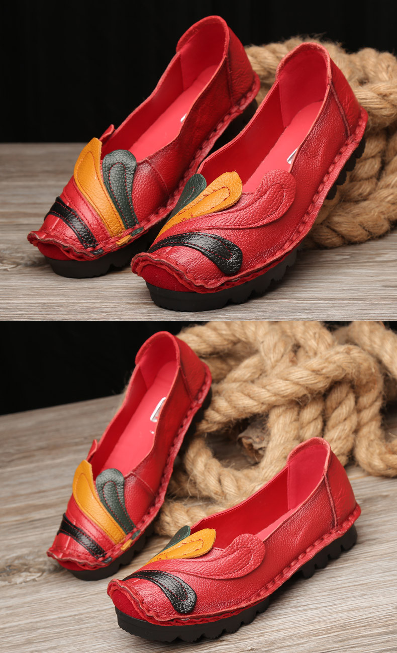 Women Genuine Leather Shoes Handmade Casual Women Flat Shoes Loafers Moccasin Comfortable Soft Creeper Women Shoes p5d57