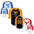 2016 T shirt Pokemon Go Poke Ball PokeBall Catch Pikachu Art Pattern Raglan Three Quarter Sleeve