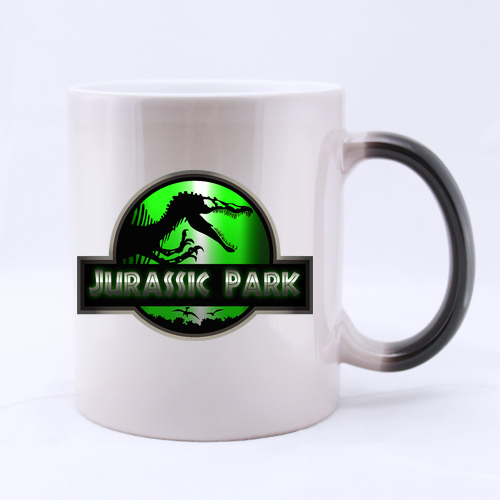 Jurassic Park Dinosaur Custom Design Coffee Mug Novel Gift Glass Mugs Morphing Ceramic Tea Cup Water Office Home Cups 11 OZ Two(China (Mainland))
