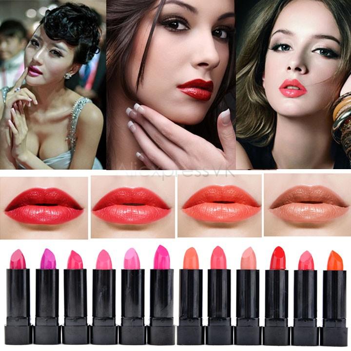 2014 New Arrival Lip Gloss Pen Makeup Lip Stick Waterproof Cosmetic Lipgloss 12 Colors Lipstick Elegant Daily Color 10(China (Mainland))