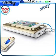 Oem odm travel adapter Power Bank 20000mah sublimation power bank aluminium alloy power bank for smartphone/ipad/iphone/samsung
