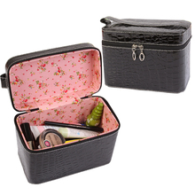 Wash Bags Large Capacity Cheap Crocodile Makeup Bags Pu Leather Storage Organizer Beauty Cases Hand-held Portable Cosmetic Bags(China (Mainland))