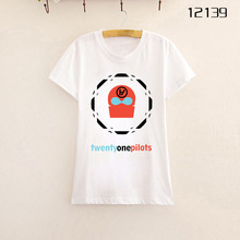 Fashion Womens Tops Fashion Twenty One Pilot Women T Shirt Cotton Short Sleeve O Neck T-shirt Summer Basic Shirt S-2XL Freepost(China (Mainland))