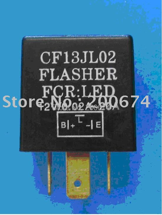 Free Shipping Auto Electric Flasher for car LED turn signal light 3 pin Drop shipping(China (Mainland))
