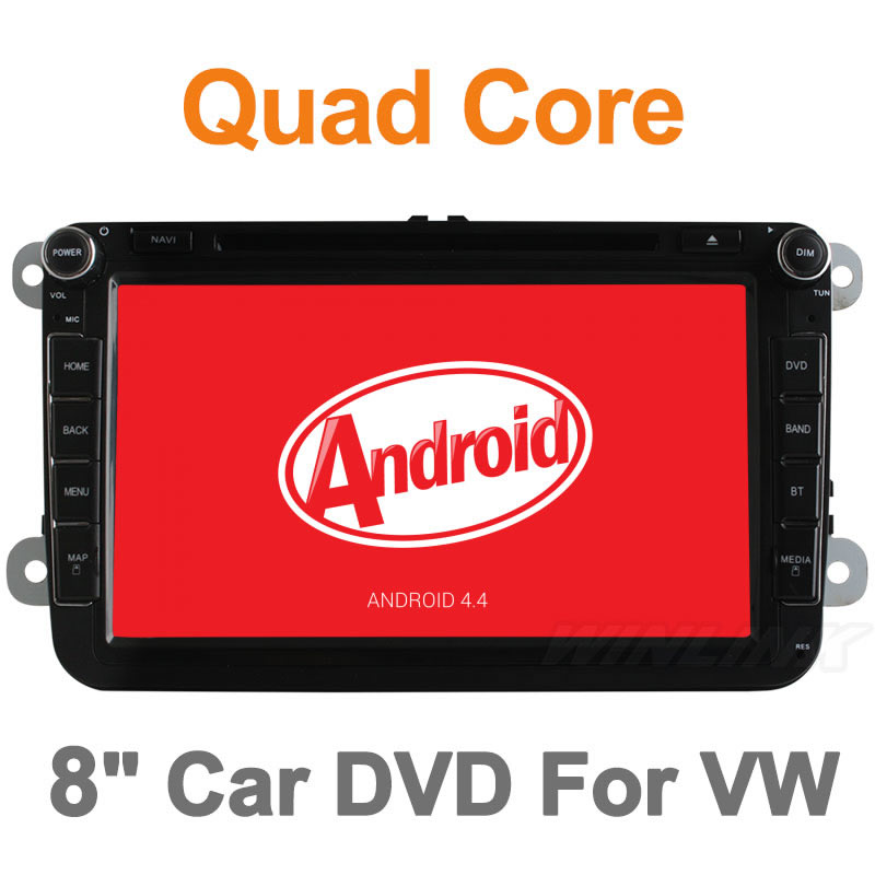 Quad Core VW Android 4.4 For Volkswagen Vw Passat Golf Jetta Polo Tiguan Car DVD Player GPS Navigation Radio Pc with Canbus(China (Mainland))