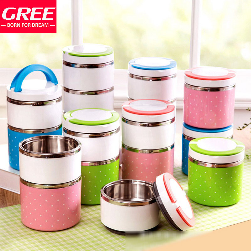 Lunch Box Stainless Steel /Bento Lunchboxe Thermos Food Containers For Kids Free Shipping(China (Mainland))