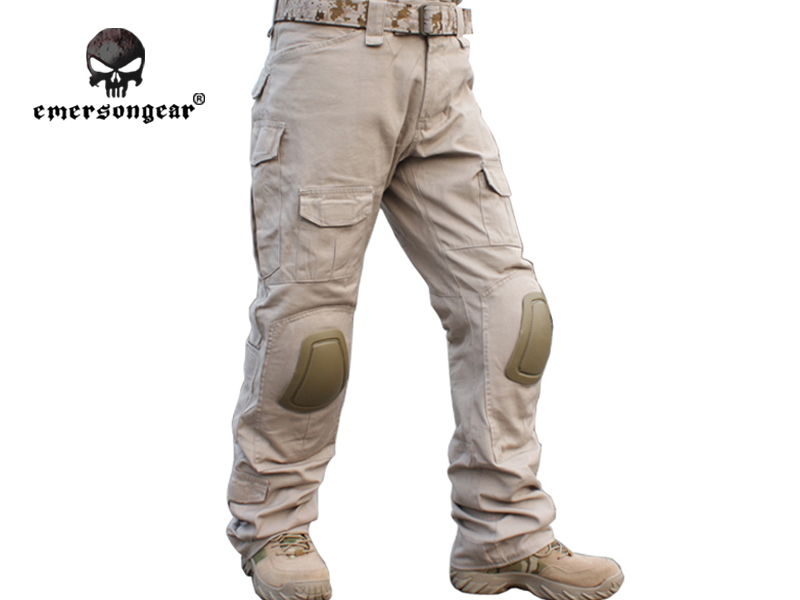 Emersongear Gen2 Combat Pants Knee Pads BDU Army Airsoft Tactical Gear Paintball Hunting Trousers EM2746 TAN Emerson - IDoutdoor Industries Store store